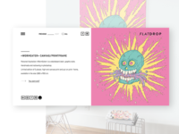 Flatdrop Website — project detail-view website skull illustration web shop minimal light design ux ui