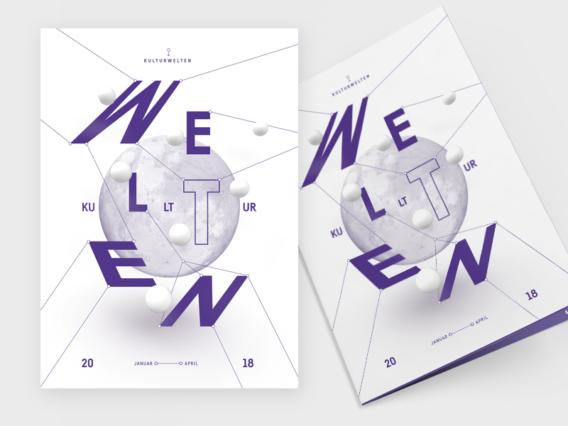 cultural worlds I 2018 wire 2018 welt poster typographic purple cultural world worlds graphic design design