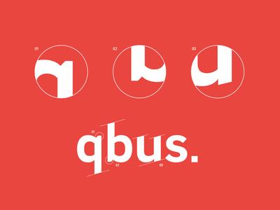 qbus architects Brand graphic design qubus red typography identity q logotype logo branding brand