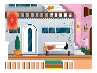 Dreams about vacation exterior inspiration icon nature vacation home mobile app flatlay uiux interface digital graphic design app dribbble abstract art vector illustration adobe illustrator