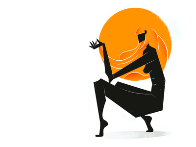 Aya adobe photoshop power red icon inspiration uiux women character interface dribbble black color abstract graphic design digital vector art adobe illustrator illustration