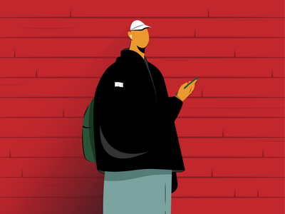 Men designer uiux minimalism graphic inspiration wall phone case black color adobe photoshop people design dribbble abstract graphic design digital vector art illustration adobe illustrator