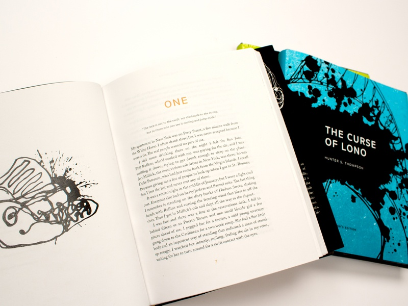 Hunter S. Thompson Collector's Edition Book Set typography illustration design book design