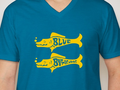(Team) Blue Barracudas tshirt shirt blue barracudas