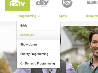 SNI - Navigation web web design ui green gray dropdown navigation