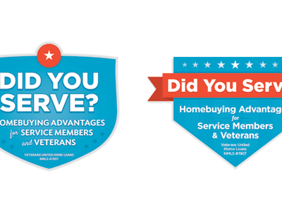 Web Badges badge badges retro vintage red blue stars stripes patriotic veterans homebuying