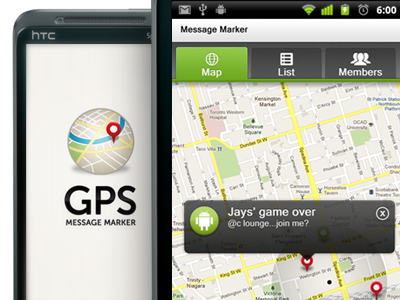 Android App - Message Marker android app ui green cream gray