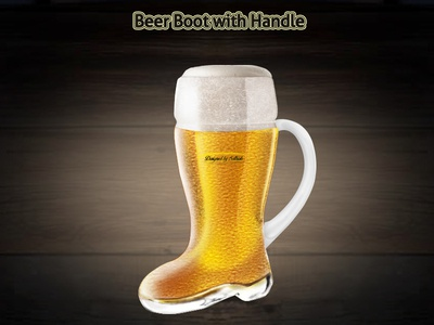 BeerBoot with Handle PSD mockup design