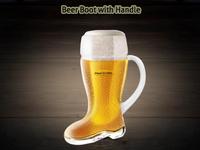 BeerBoot with Handle PSD mockup design ux ui template psd photoshop mockup free download design boot bottle beer