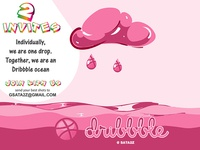 Two Invites - Dribbble Drops rain sky sea invite typography photoshop illustrator ux ui design