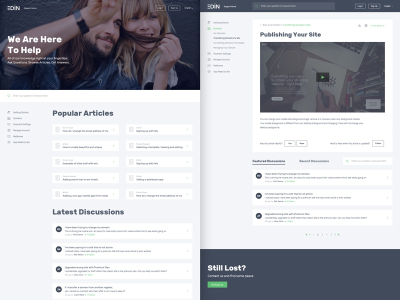 Wix Answers Template how to website template list question discussion article help support centre support answers wix