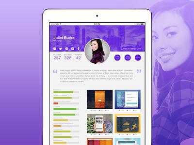 DailyUI #006 - User Profile data graph ipad profile portfolio ios app mobile dailyui