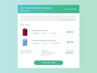 DailyUI #017 - Email Receipt