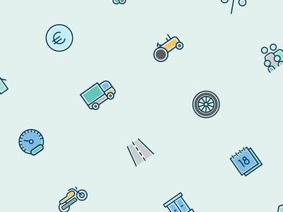 Cattolica Assicurazioni: Iconography uiux outline icon insurance italian design design icon iconography icon set icons