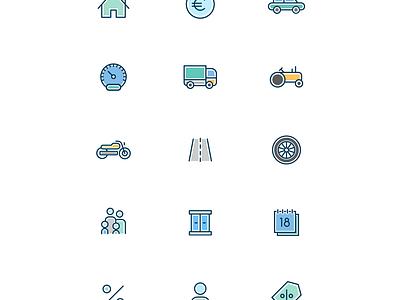 Cattolica Assicurazioni: Quotti dashboard report color icon card insurance italian design uiux homepage dashboard tablet app tablet interaction design ui design