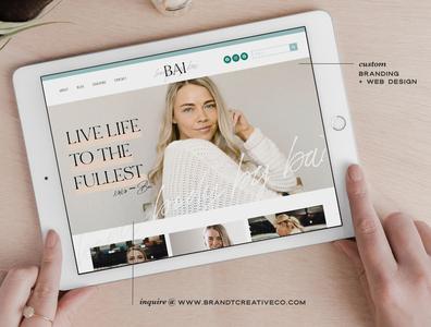 Chic Website Design for Wellness Coach