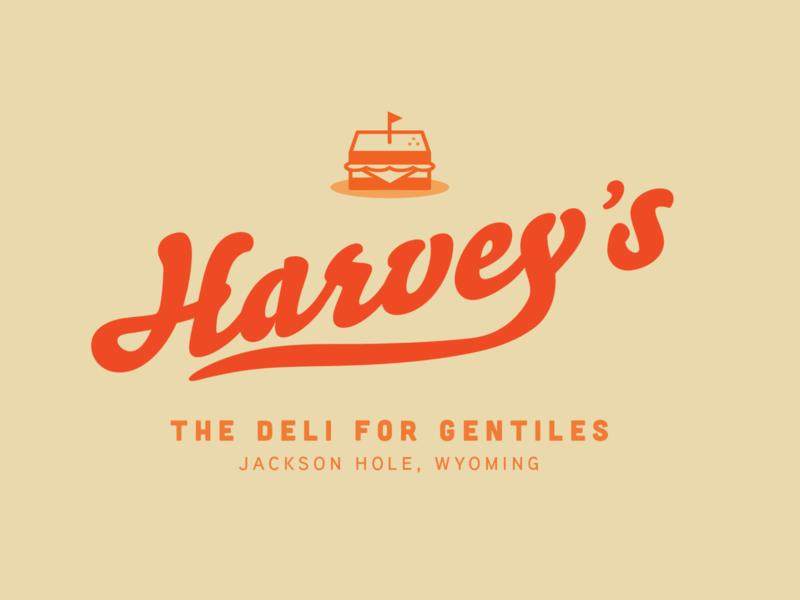 Harvey's jackson hole logo branding sandwich deli