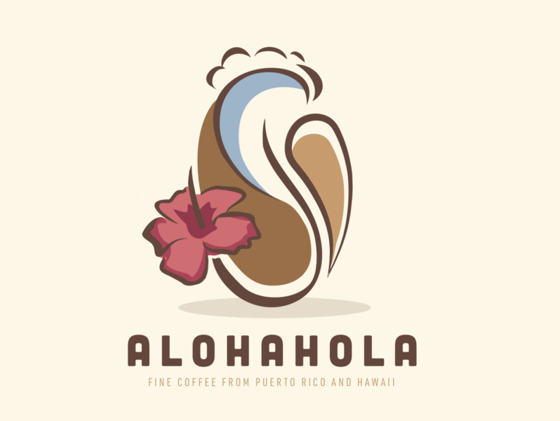 AlohaHola Coffee hibiscus coffee surf bean