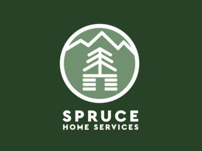 Spruce 1 mountain illustration logo tree cabin