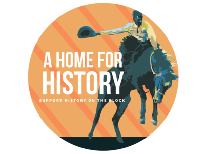 A Home for History logo illustration rodeo wyoming