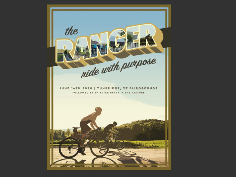 The Ranger vintage retro retro poster gravel bike bike