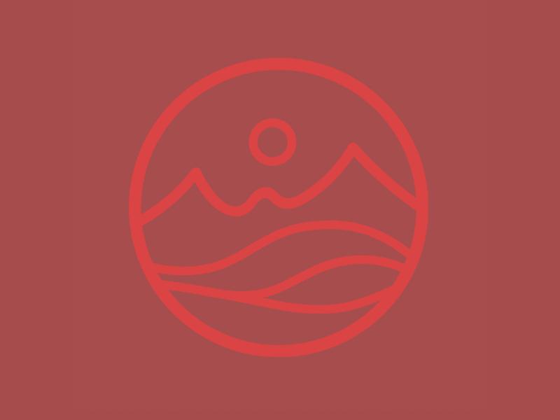 Mountain seal seal sticker mountain