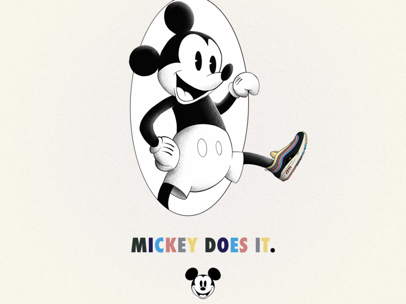 Mickey for Nike typography branding adobe photoshop photoshop procreate design illustrator illustration graphic design