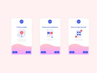 Daily UI 23 - Onboarding  app concept