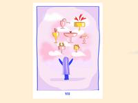 Illustration - Tarot card Seven of cups