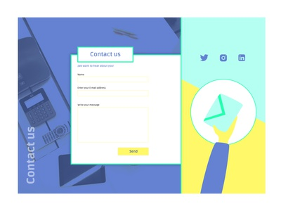 Daily UI 28 - Contact us page vector illustration uxui uidesign design ui dailyui