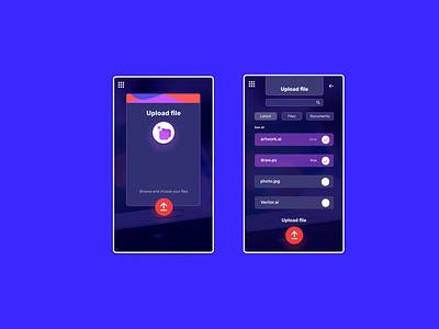 Daily UI 031 - Upload File uidesign app uxui design ui dailyui