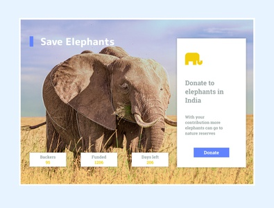 Daily UI 32 - Crowdfunding Campaign