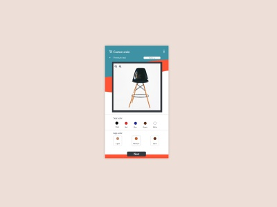 Daily UI 33 - Customize product uxdesign graphicdesign appdesign uidesign app uxui design ui dailyui
