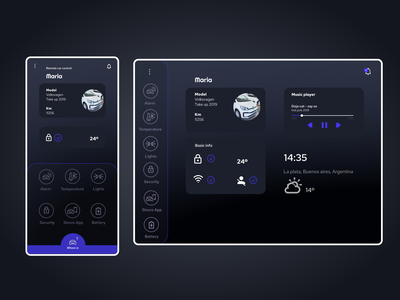 Daily UI 034 - Car interface app icons carinterface uxui uidesign dailyui