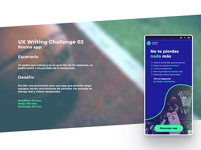 Uxwriting 02 - Promo App ux design uxwriting appdesign uidesign uxui ui