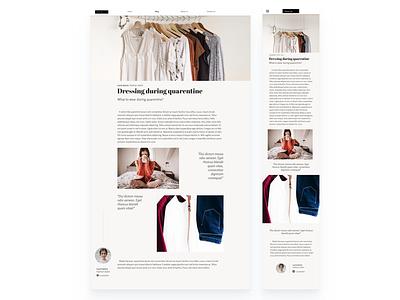 Daily UI 035 - Blog post blog design webdesign blogpost design ui uidesign dailyui