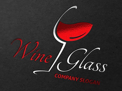 Logo Wine Glass logo brand glass wine liquid corporate identity