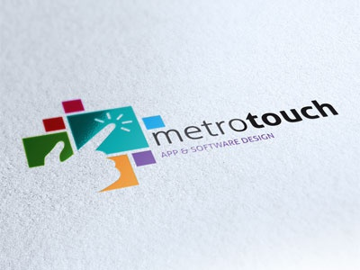 Logo Metro Touch logo brand corporate identity apps software metro windows square color