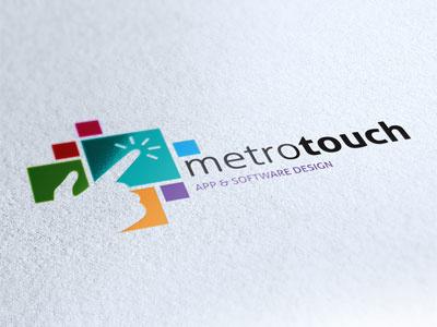 Logo Metro Touch logo brand corporate identity apps software metro windows square color