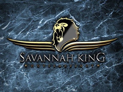 Savannah King Logo lion king savannah resort hotel logo gold silver luxury agressive
