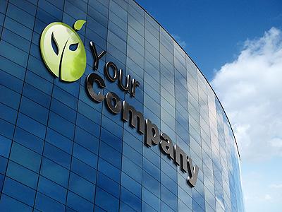 Building Logo Mockup