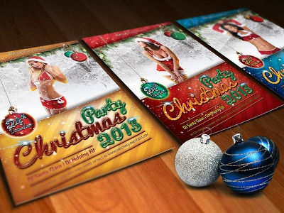 Sexy Christmas Party Flyers sexy christmas party flyer poster xmas snow winter event santa claus music
