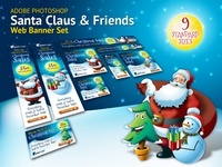 Santa Claus & Friends Christmas Web Banner Set