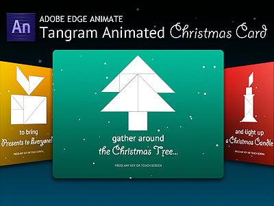 Tangram Animated Christmas Card HTML5