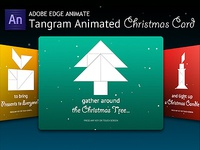 Tangram Animated Christmas Card HTML5