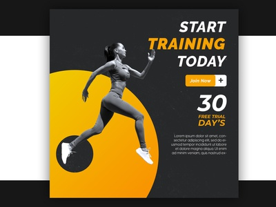 Gym and fitness instagram banner