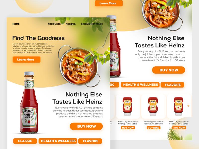 Heinz Website UI Redesigner branding design website redesigned ui deisgn ui design wrodpress redesigned ui website heinz