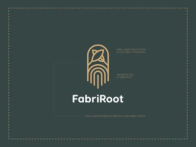 FabriRoot Fabric Logo Branding monogram design professional logo brand guide identity company logo app logo vintage logo modern logo logodesign logo designer logo brandmark idenity brand identity branding