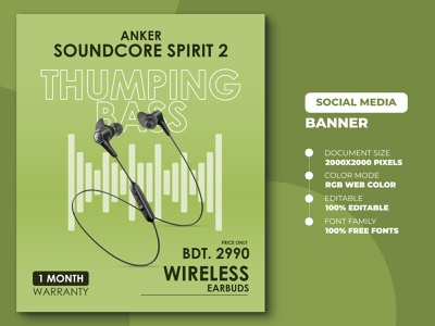 Earphone - Social Media Banner Templates gadgets typography branding banner banners social media banner social media banner post social media banner designer social media banner design ideas social media banner size social media banner ideas social media banners sizes social media banner examples