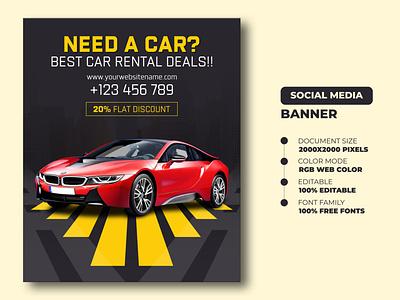 Car Rent Social Media Banner Templates | Car Rent Flyer template banners branding social media banner car rent flyer flyer templates flyer car rent social media banner car rent car